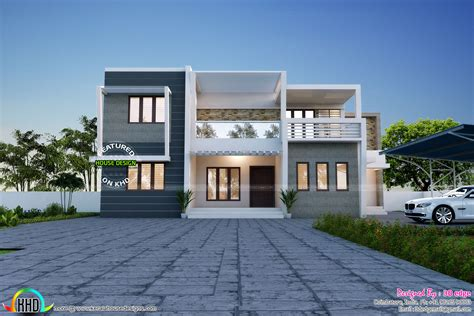 simple but elegant house plans simple and elegant contemporary duplex home kerala home design and floor plans