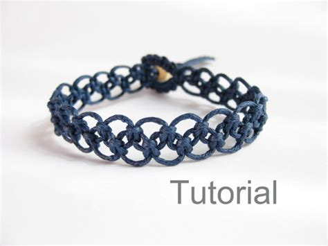 Tutorial Macrame - tutorial macrame bracelet pattern pdf easy navy blue knotted