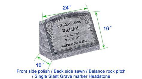 M104 Flat Single Slant Marker Headstone 24 Quot X10 Quot X16 Quot P1brp Grave Marker Template