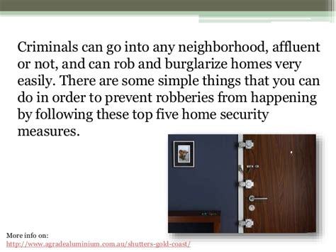 top 5 home security measures to take