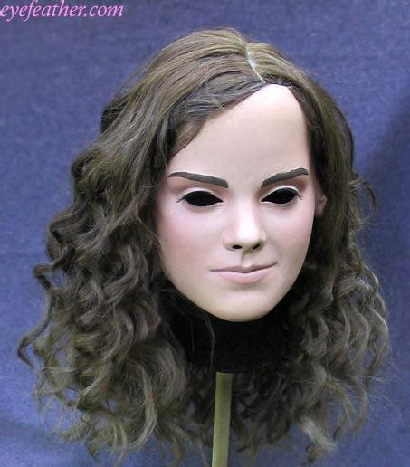 emma watson mask emma hermione mask front by eyefeather on deviantart