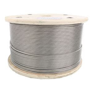 1 X 19 Stainless Steel Cable - 3 16 inch 1 x 19 type 316 stainless steel cable