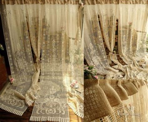 victorian lace curtains on sale 72 quot one vtg victorian style lace curtain panel burlap