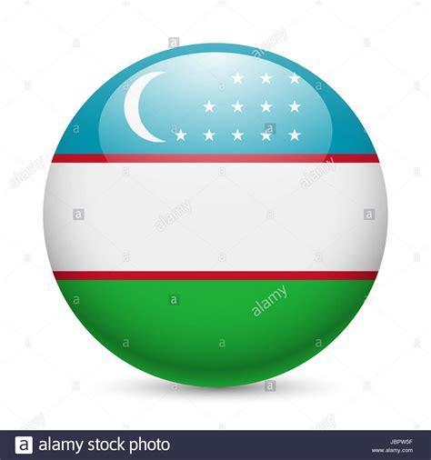 flag of uzbekistan stock image image of symbol places flag of uzbekistan as round glossy icon button with uzbek