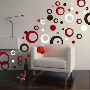Thick Rings & Dots Vinyl Wall Art   Trendy Wall Designs