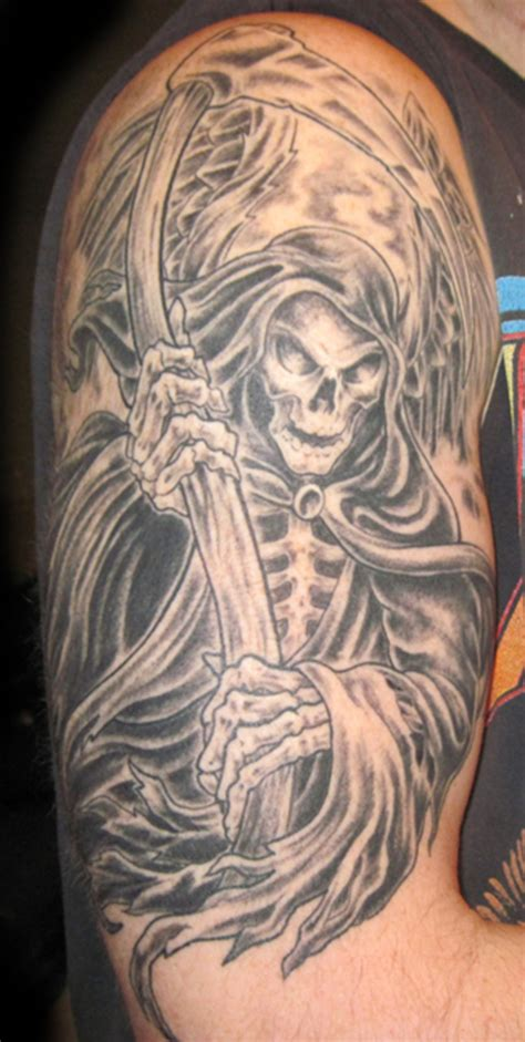 death tattoo design of tattoos best designs