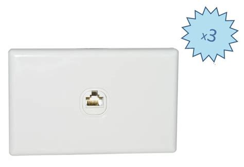 package  gang lan data network patch panel wall plate