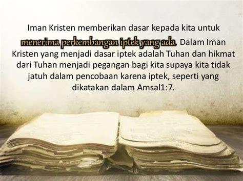 Kebenaran Kebenaran Dasar Iman Kristen 6 iptekni estu ria dwi yulianingsih 31