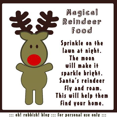 printable reindeer food poems magic reindeer food recipe poem printable oatmeal