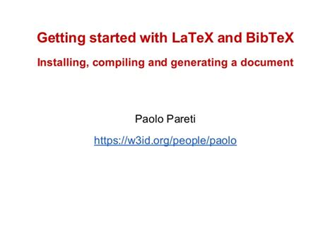 latex tutorial getting started how to start using latex and bibtex