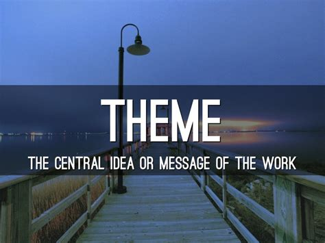 theme literary term powerpoint literary terms by kevin ashworth