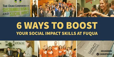 Duke Fuqua Mba Employment Report by Welcome To Dukebdw 6 Ways To Boost Your Social Impact