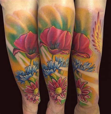 el loco tattoo arm flower tattoo by el loco tattoo lounge