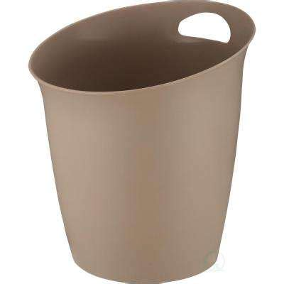 bathroom waste baskets beige brown waste baskets bathroom decor the home