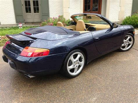 navy blue porsche sell used carrera navy blue with savannah beige leather