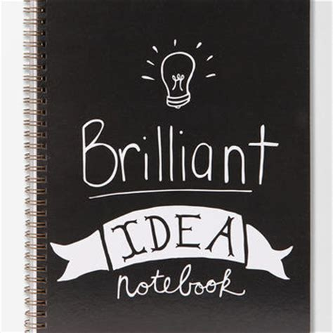 brilliant ideas notebook books outfitters spiral notebook from outfitters