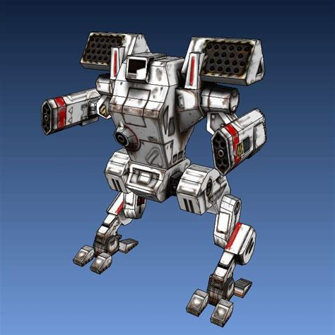 Mechwarrior Papercraft - mechwarrior 4 arctic wolf papercraft