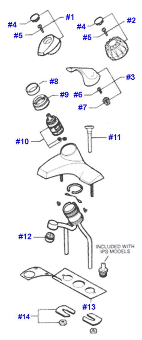 valley parts for single handle bathroom faucets