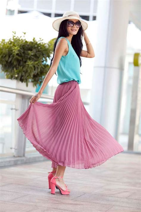 retro chiffon maxi skirt big sweep by