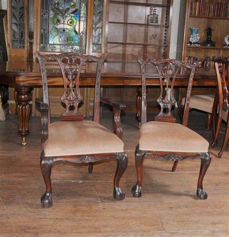Dining Table Sets Mahogany Victorian Dining Table Set Chippendale Chairs Set Suite