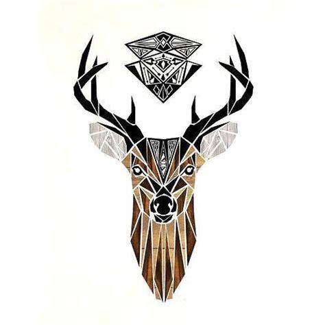 amazing deer head tattoo design