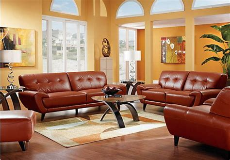terracotta sofa living room shop for a midtown east terracotta 3pc