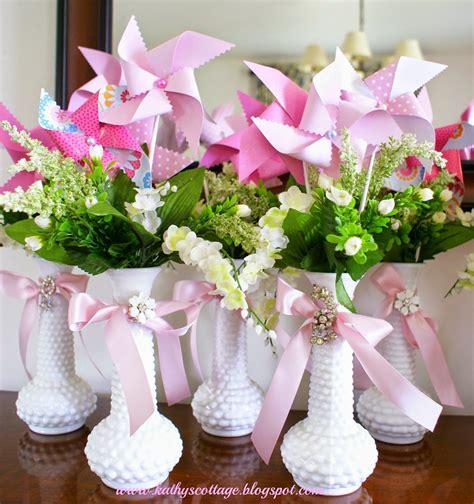 Kathys Cottage Budget Wedding And Bridal Shower Centerpieces Bridal Shower Centerpieces On A Budget