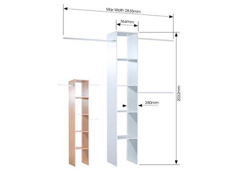 Depth Of Wardrobe by Wardrobe Interior Kits Economy Range Sliding Wardrobe