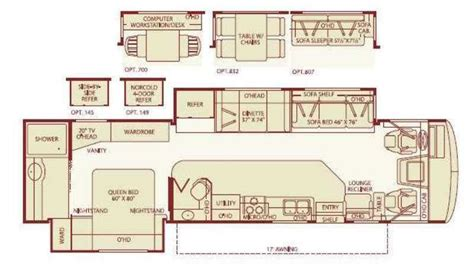 fleetwood bounder floor plans 2005 fleetwood bounder 35e photos details brochure floorplan