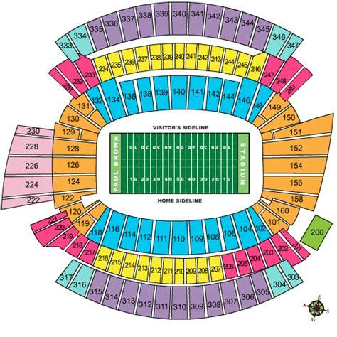cincinnati bengals seating chart for paul brown stadium