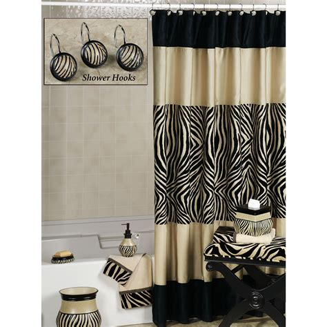 zebra print bathroom accessories shower bath accessories zebra print shower curtain