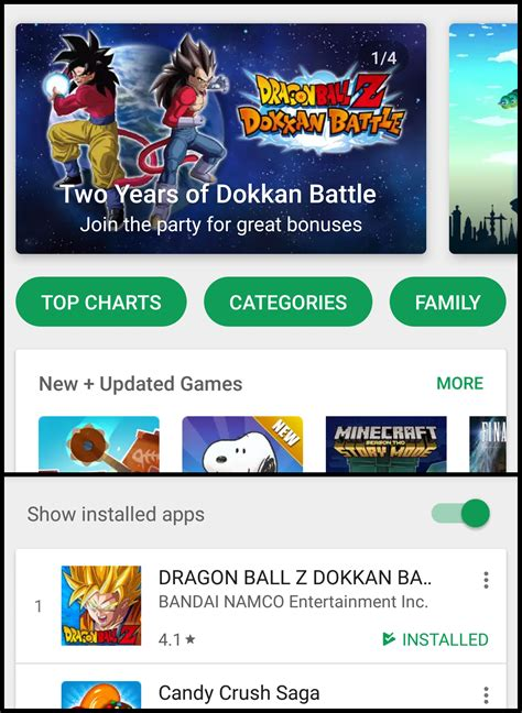 Play Store Top Grossing Dokkan Is Featured In Uk Play Store Top Grossing