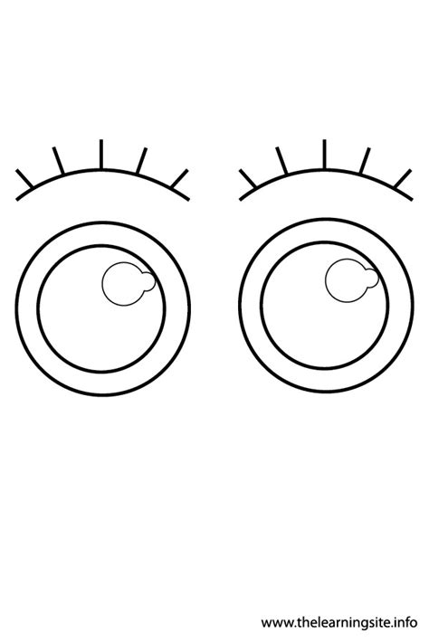 coloring page eyeball the learning site