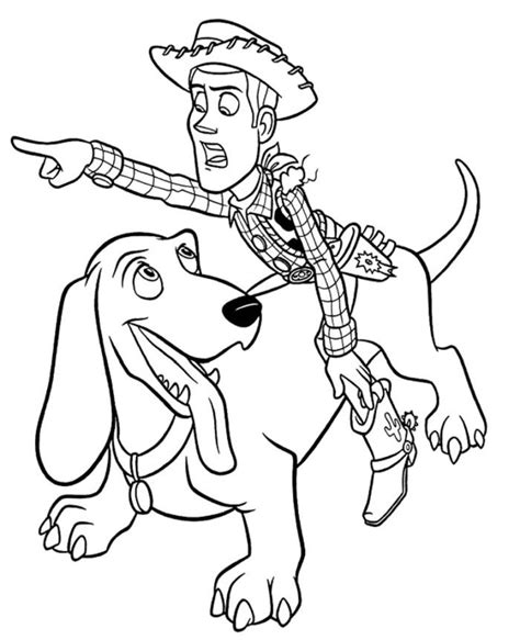 woody and dog coloring pages toy story coloring pages