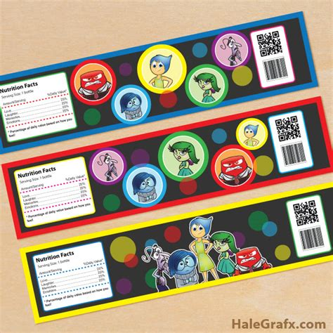 printable inside out bookmarks free printable inside out water bottle labels