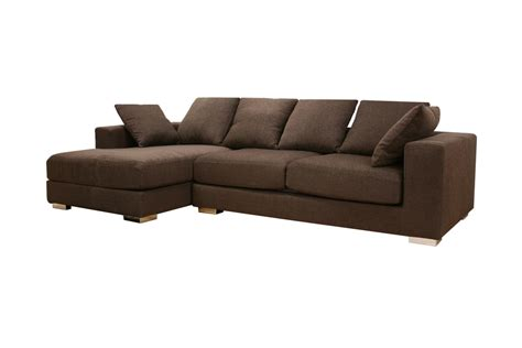 Baxton Studio Florence Brown Twill Fabric Modern Sectional Twill Sectional Sofa