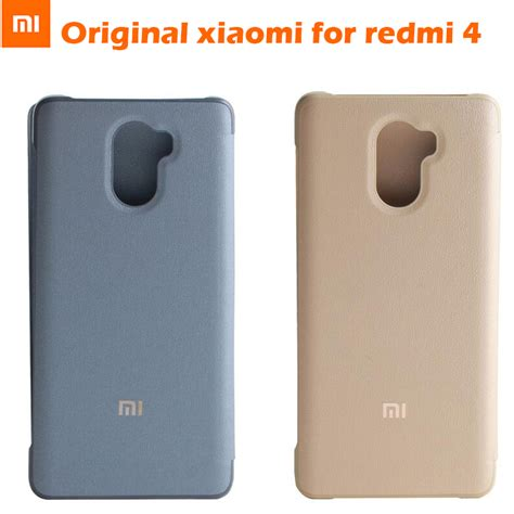 Top Xiaomi Redmi 4 Prime Flip Cover Mi Logo Model O Berkualitas 100 original xiaomi redmi 4 smart up flip
