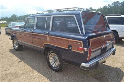 navy blue jeep grand 1986 86 jeep grand wagoneer navy blue woody factory