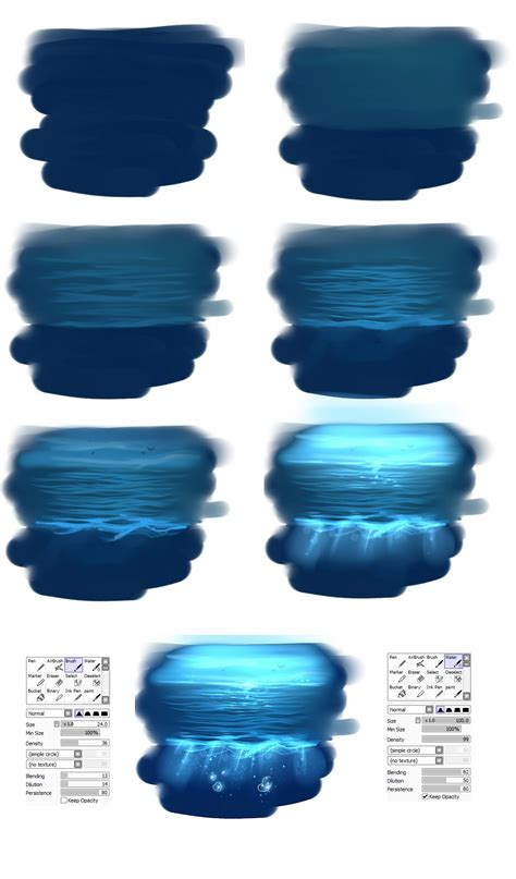 how to color water easy water tutorial by ryky on deviantart via pincg