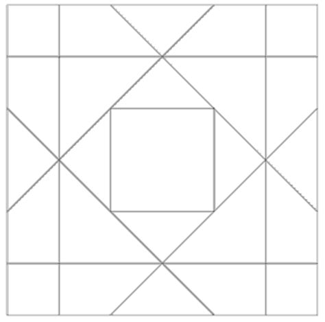 Square Patchwork Templates - imaginesque quilt block 13 pattern and template