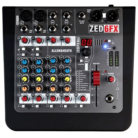allen and heath zed 6fx compact mixer at gear4music