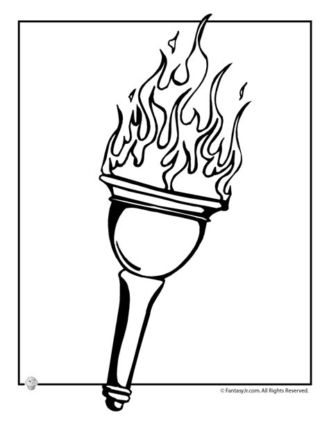 fantasy jr olympic torch coloring page olympics