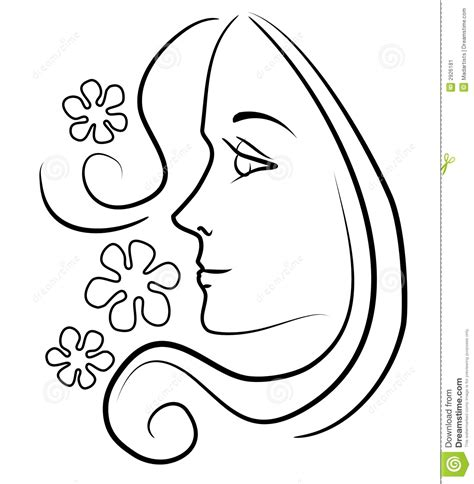 girl face outline clip art clip art of a girl face clip art outline illustration of