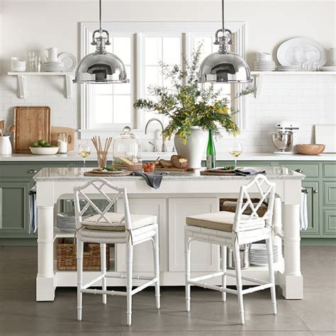 marble topped kitchen island barrelson kitchen island with marble top williams sonoma