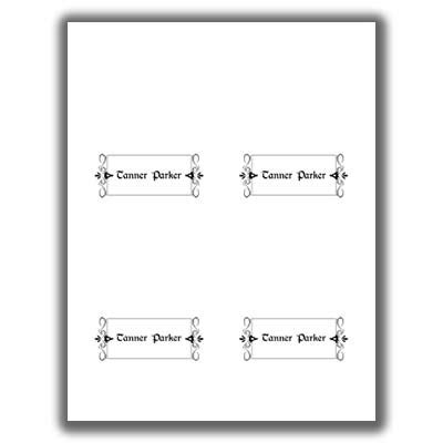 Avery Place Cards Template 2 Per Sheet by Place Card Template 2