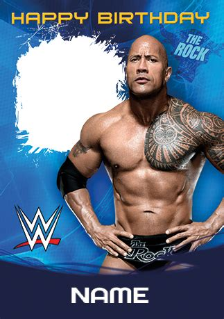 Bodybuilding Com Gift Card - the rock birthday card wwe funky pigeon