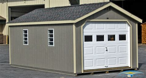one car garages 1 car prefab garage horizon structures