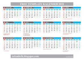 Calendar 2018 Indonesia Excel Template Kalender 2018 Format Coreldraw Hanya Ada Satu