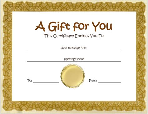 diy gift voucher template gift certificates plain certificate of interior