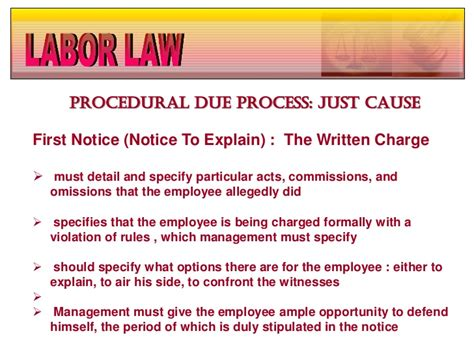 Explanation Letter Answer Procedural Due Process